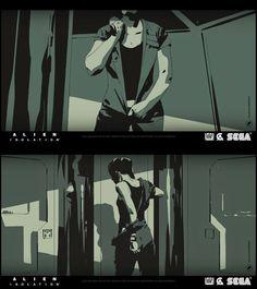 "CATSUKA - Storyboards by Alexander Watt for ""Alien:..."