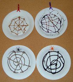 Glitter Spider Web - Free Halloween Craft for Preschoolers