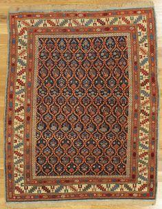 "Kuba rug,Eastern Caucasus,circa 1870, 5'.0""x4'.1"" (152x124 cm)."