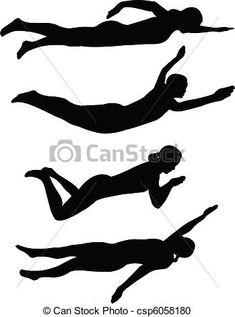 Vector Clipart of swimming styles - vector csp6058180 - Search ...