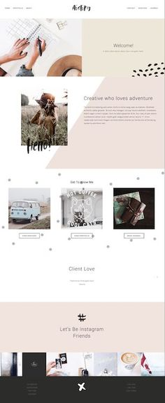 Aisling Squarespace Template Forth and Create. Website Layout, Blog Layout, Layout Design, Web Layout, Website Design Inspiration, Simple Website Design, Website Designs, Website Ideas, Web Design Trends