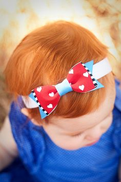 Alice in Wonderland Boutique Baby Bow Disney by MyMagicalVacation