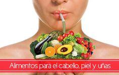 Alimentos para el cabello, la piel y las uñas