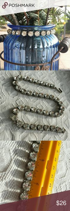 """Vintage paste or rhinestone choker. Details coming. 14 1\4"""" long Vintage  Jewelry Necklaces"""