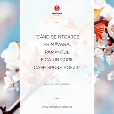 Primăvară frumoasă! Rainer Maria Rilke, Your Smile, Feng Shui, Reading, Spring, Quotes, Books, Quotations, Libros