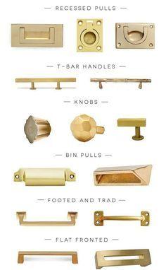 gold kitchen hardware - Google Search