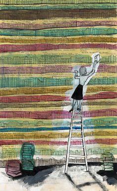 Librarian / Bibliotecaria (ilustración de Molly Cornelius)