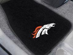"""NFL - Denver Broncos 2-pc Embroidered Car Mats 18""""x27"""""""