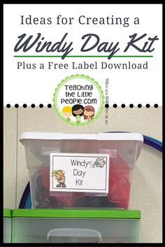 A Windy Day Kit is a kit for of the toys and tools that help you enjoy and learn about wind - just pull it out and use it whenever you have a windy day.