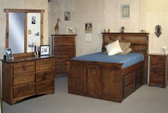 Bryce - Sedona Twin Bookcase Bed W/Single 4- Drawer Captains Unit