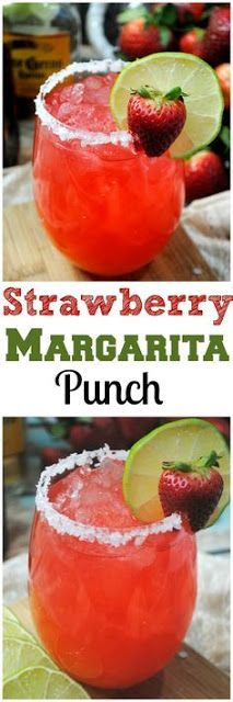 Fizzy Strawberry Margarita PUNCH! | Mom's Food Recipes