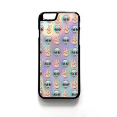 Alien Emoji Peace Background For Iphone 4/4S Iphone 5/5S/5C Iphone 6/6S/6S Plus/6 Plus Phone case ZG