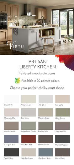 Express the art of living your way with our exciting range of vibrant colours. What colour will your Virtu kitchen be? #VirtuKitchens