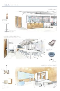 IDEO Office Interiors by Amy Hagedorn via Behance Student Work