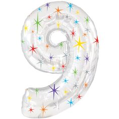 Balloon - Number Balloons - Photo Props - Birthday - Ninth Birthday - Party Balloons - Nine