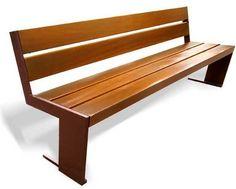 Public bench / contemporary / cast iron / in wood QUATRO Benito