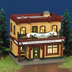"""Department 56: Snow Village - """"McGuire's Irish Pub"""" - #56.55066 - $50.00 - Intro Dec 2001 - Retired Dec 2004"""