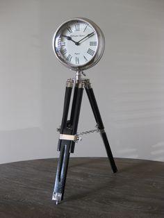 Ralph Lauren tripod clock