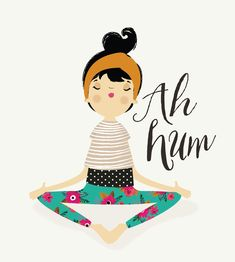 : Luiza Bione Illustrations on imgfave Yoga Zen, Yoga Meditation, Monica Crema, Yoga Kunst, Yoga Drawing, Yoga Illustration, Illustrations, Cute Drawings, Bunt