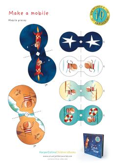 make a mobile to go along with Oliver Jeffers how to catch a star book, printable activity