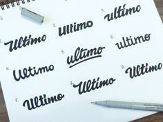 Ultimo typesetting with pen and paper. #Typography #Branding