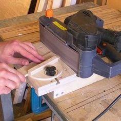 Cool belt sander stand!:
