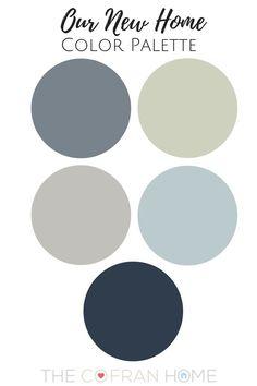 Family home Wall Colors - Our New Home Color Palette. Basement Paint Colors, Basement Painting, Bedroom Paint Colors, Interior Paint Colors, Paint Colors For Home, Living Room Colors, House Painting, Paint Colours, House Color Schemes Interior
