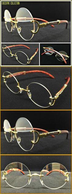 dcdb5735f26a Vision Care 31414  Men S Classy Elegant Retro Style Round Clear Lens Eye  Glasses Gold