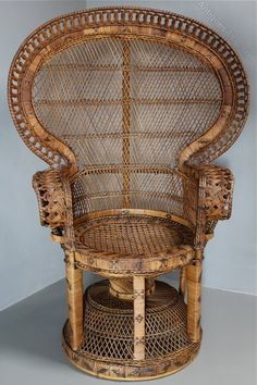 Antiques Atlas - 1960's Rattan Peacock Chair