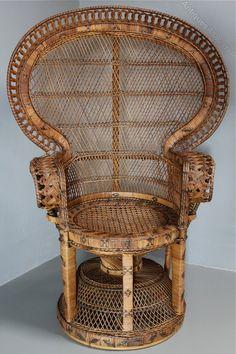 Antiques Atlas   1960u0027s Rattan Peacock Chair