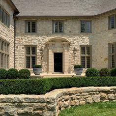 "Howard Design Studio on Instagram: ""A stately composition of stone, iron, lead and Boxwood. Architecture @dsdixonarchitect Landscape architecture @howarddesignstudio Garden…"""