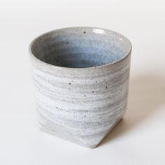 Faceted Rock Ceramic Teacup Grey from Omoi Zakka Shop