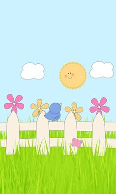 luvmyevo.blogspot.com Kitty Wallpaper, Kawaii Wallpaper, Flower Wallpaper, Wallpaper Backgrounds, Iphone Wallpaper, Art Drawings For Kids, Drawing For Kids, Easy Drawings, Micro Creche