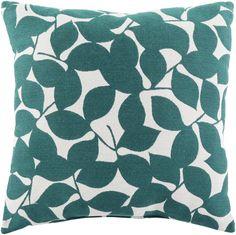 Surya Magnolia Throw Pillow Blue, Neutral