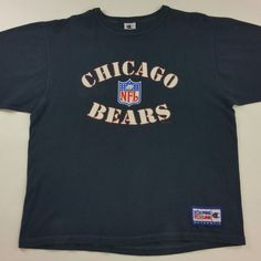 Now Available on JustOneVintage.com Vintage 90s Chicago Bears Champion T-shirt. Swing by our shop and pick it up. #JustOneVintage