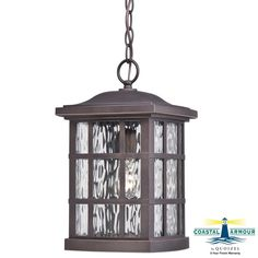 Quoizel SNN1909 Stonington 1 Light Lantern Outdoor Pendant with Glass Shade Palladian Bronze Outdoor Lighting Pendants Outdoor Pendants