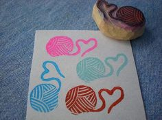ini ball of yarn stamp // Man,these would be the awesomest ever...   And I got it from Koreen! :D
