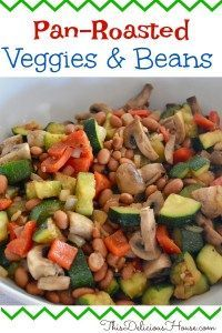 Mexican Pan Roasted Vegetables and Beans Pan Roasted Vegetables and Beans is an easy and healthy side dish. Full of flavor, this healthy veggie recipe has Mexican flavors and is great with a taco bar. Vegetarian and vegan friendly. Veggie Recipes Healthy, Easy Salad Recipes, Mexican Food Recipes, Dinner Recipes, Ethnic Recipes, Vegan Recipes, Italian Recipes, Holiday Recipes, Paleo Food