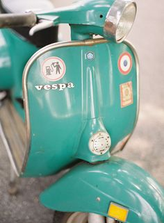 Vespa- this is around the color I picture for the future dream scooter!