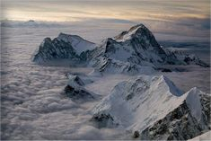 """Makalu from the third step on Everest"""