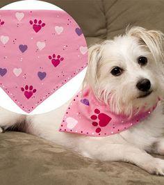 Heart paw bandana #Valentine
