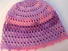 Slouchy / summer / beanie / crochet hat / cotton / purple / lilac / pink / festival / resort / beach hat / travel / resort / street / casual / boho / crochet cap / women / girls / etsy