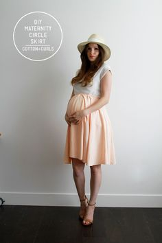 Maternity circle skirt tutorial.