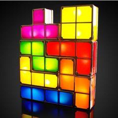 Lámpara Tetris, luz ambiental - Tienda de regalos originales QueLoVendan.com