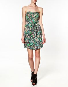 DRESS WITH BOW AT THE BACK - Dresses - Woman - ZARA
