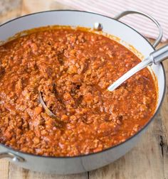This traditional Bolognese sauce uses all authentic ingredients like beef, pork, fresh tomato purée, cooked low & slow for a rich, hearty taste.