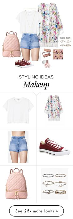 """""""Summer outfit"""" by simmons-salsa on Polyvore featuring Kendall + Kylie, Monki, Converse, Urban Decay, MICHAEL Michael Kors, Wanderlust + Co and Boohoo"""