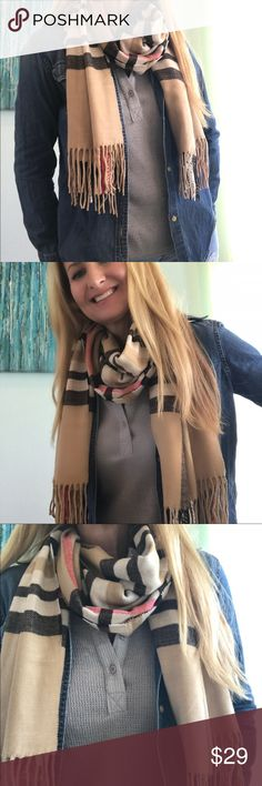 Tartan Scarf Black/Beige/Cream ☃️ Sale Gorgeous traditional Tartan pashmina scarf!! Shades of beige and cream with black for accent!! Dressed up or down you will look stunning!! 100% Viscose HipFinds Accessories Scarves & Wraps