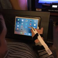"""""""I wanted to come up with some sort of device that would eliminate the hardships that I and people with limited mobility like mine have to face."""" Limitless Stylus has been created by Paul Tudisco to help people like himself get more comfortable with touchscreen devices. Paul is 29 and has Cerebral Palsy. #assistivetechnology #stylus #cerebralpalsy #cp #ipad #tablet #touchscreen"""