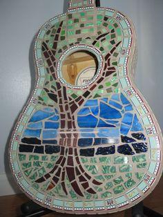 mosaic guitar by drenfrew on Etsy